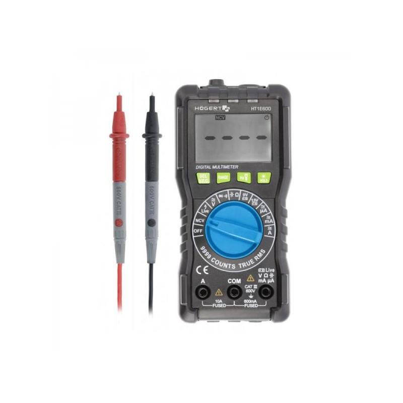 Tester-Digitaalmultimeeter kaitsva kattega 1e600