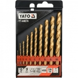 Metallpuuride komplekt 1-10mm 10tk HSS-TIN YT-44674