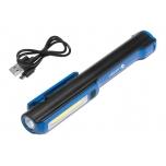 Töötuli COB3W/LED3W aku+USB laadija,2 magnetit 1E406