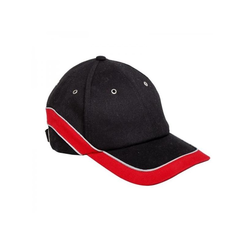 Nokamüts must/punane