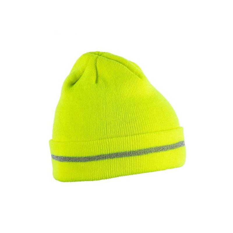 Kootud müts kollane ISEN 5k475