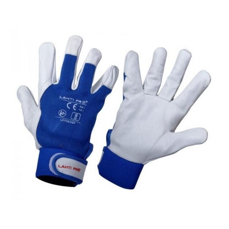 Töökindad nahast sinine suurus 9 (L) L270609