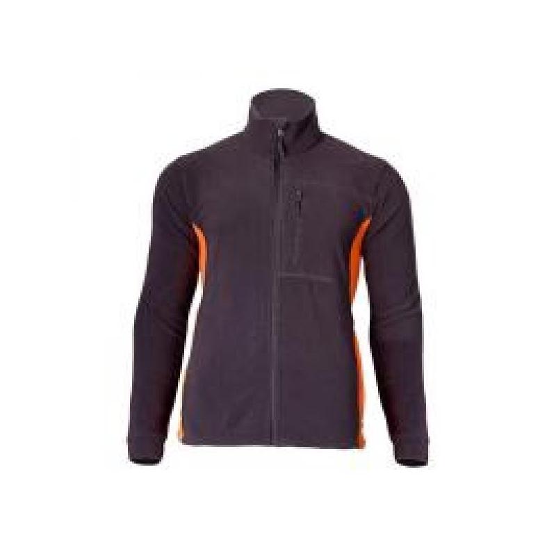 Fliis lukuga hall/oranz suurus XL 4010204