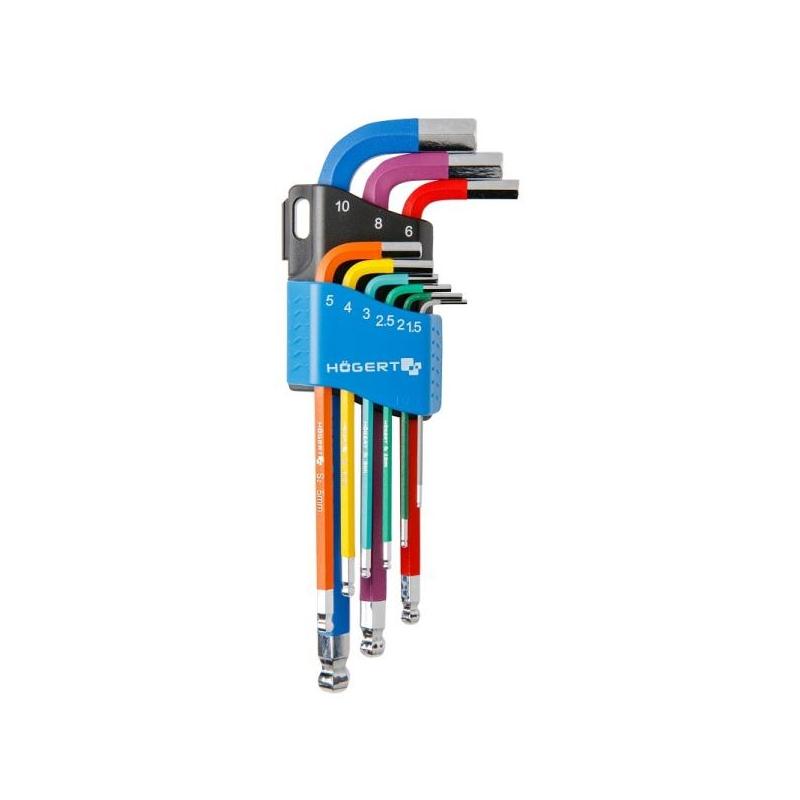 Kuuskant L võtmete komplekt 1,5-10mm 1W806