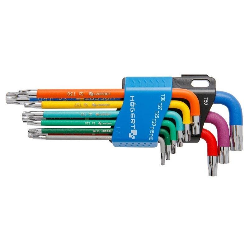 Torx L- võtmete kompl. T10-T50 9osa 1W817