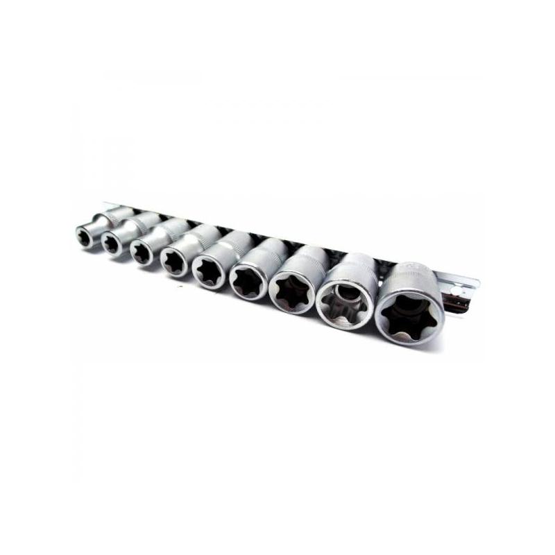 """E-torx 1/2"""" padrunite komplekt E10-E24 9tk 1A880"""