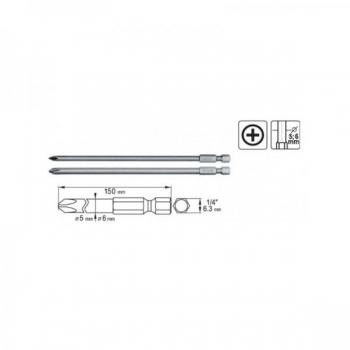 PH1 + PH2 L150 kruvik d5-6mm 1/4 S2 L150 0489