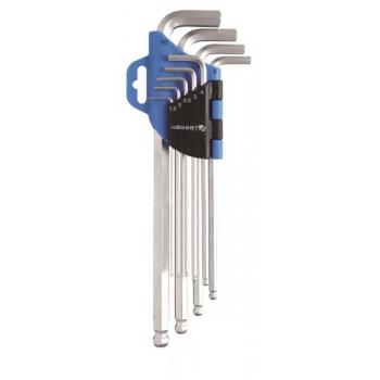 Kuuskant L võtmed pikad 9tk. 1W808
