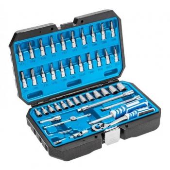 """Tööriistakohver 1/4"""" 46osa T+narre+padr,+pikkpadr.+torx 1R416"""