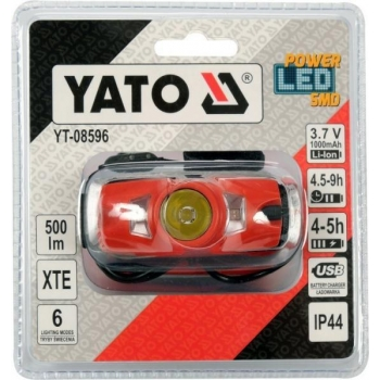 Pealamp LED 3,7v 500 lm 08596