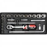 """1/2"""" Tööriistakomplekt 25 osa - padrunid + narre + karp 12671"""