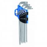 Torx L-võtmed+auk T10-T50 pikk 1W818