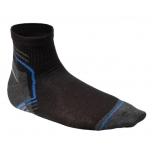 Sokid lühikesed must-grafiit-sinine 3 paari 5K452