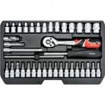 """Tööriistakohver 1/4"""" 38osa T+narre+padr+torx 14471 Yh"""