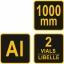 Joonlaud 1m +käepide.+lood alumiinium TR-19755