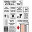Mobiilne töölaud 12 sahtlit 1130x570x1000mm 09003