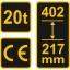 Õlitungraud 20T 217-402mm pudeltungraud TR-80082