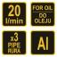 Vaadipump õlile alumiiniumist 20 l / min TR-78002