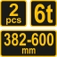 Autopukk 6T komplektis 2tk.382-600mm TR-80309