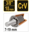 "7-19mm universaal 6kant 3/8 "" padrun TR-53002"