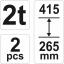 Autopukk 2T komplektis 2tk 265-415mm profi 17310  h