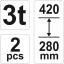 Autopukk 3T komplektis 2tk 280-420mm 17311 H