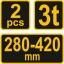 Autopukk 3T komplektis 2tk 280-420mm Vorel TR-80308