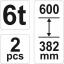 Autopukk 6T komplektis 2tk 382-600 17312 h