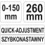 Fiksaatortangid lai150mm 21570